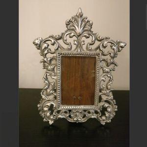 vintage bronze Victorian photo mirror frame